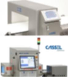 CASSEL: detectores de metales industriales, rayos x, pesadoras dinámicas