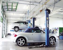 SBM Calefacción de taller automóviles, ambiente de trabajo comfortable, calor radiante, calefactores cerámicos a gas, fabricados en Francia, encendido automático