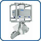 Detector de metales GF para alimentación por gravedad de productos a granel, variedad de mecanismos de rechazo, diferentes alturas de instalación