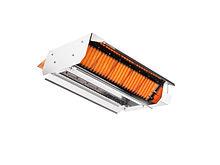 Calefactores radiantes a gas para galpones avícolas, radiantes dobles para avicultura
