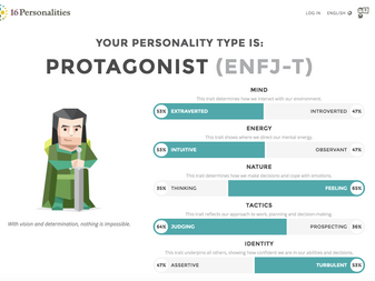 What's your personality type? I'm ENFJ & Type 3!