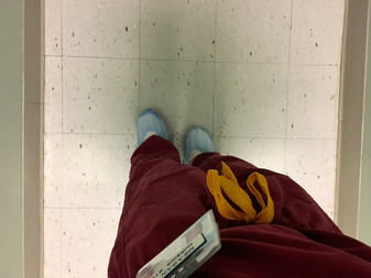 Operating Room: traded in for the maroon scrubz today.