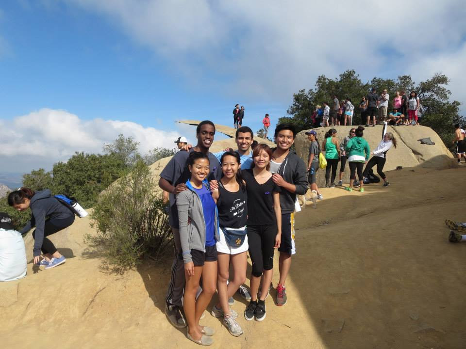 The famous POTATO CHIP ROCK is featured behind our group. :)