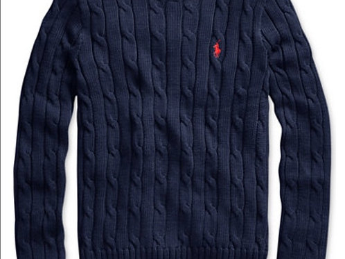 Polo Ralph Lauren Cable Knit Cotton Sweater NWT