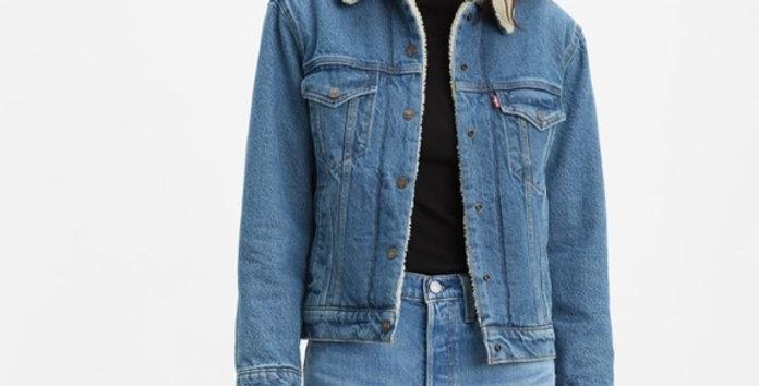 Levi's Ex-boyfriend Sherpa trucker jacket NIP L
