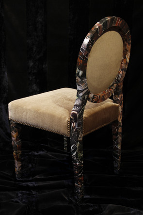 chaise garnie en crin