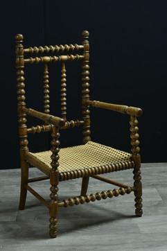 chaise enfant canné
