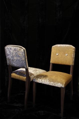 paire de chaises relookées
