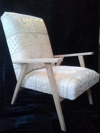 fauteuil sixties relooké
