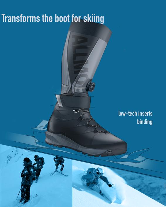 Transforming to a ski boot