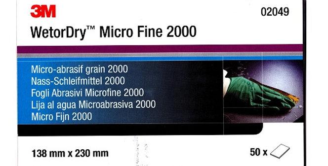 Šlifavimo Popierius 3M P2000