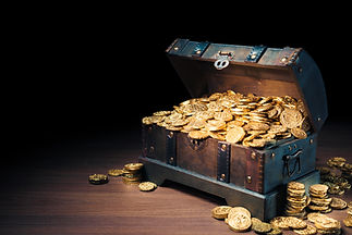 Open treasure chest filled with gold coins _ HIgh contrast image.jpg
