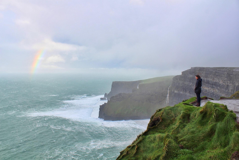 Ireland, Cliffs of Moher, Rainbow, Travel, Paddywagon, Photography
