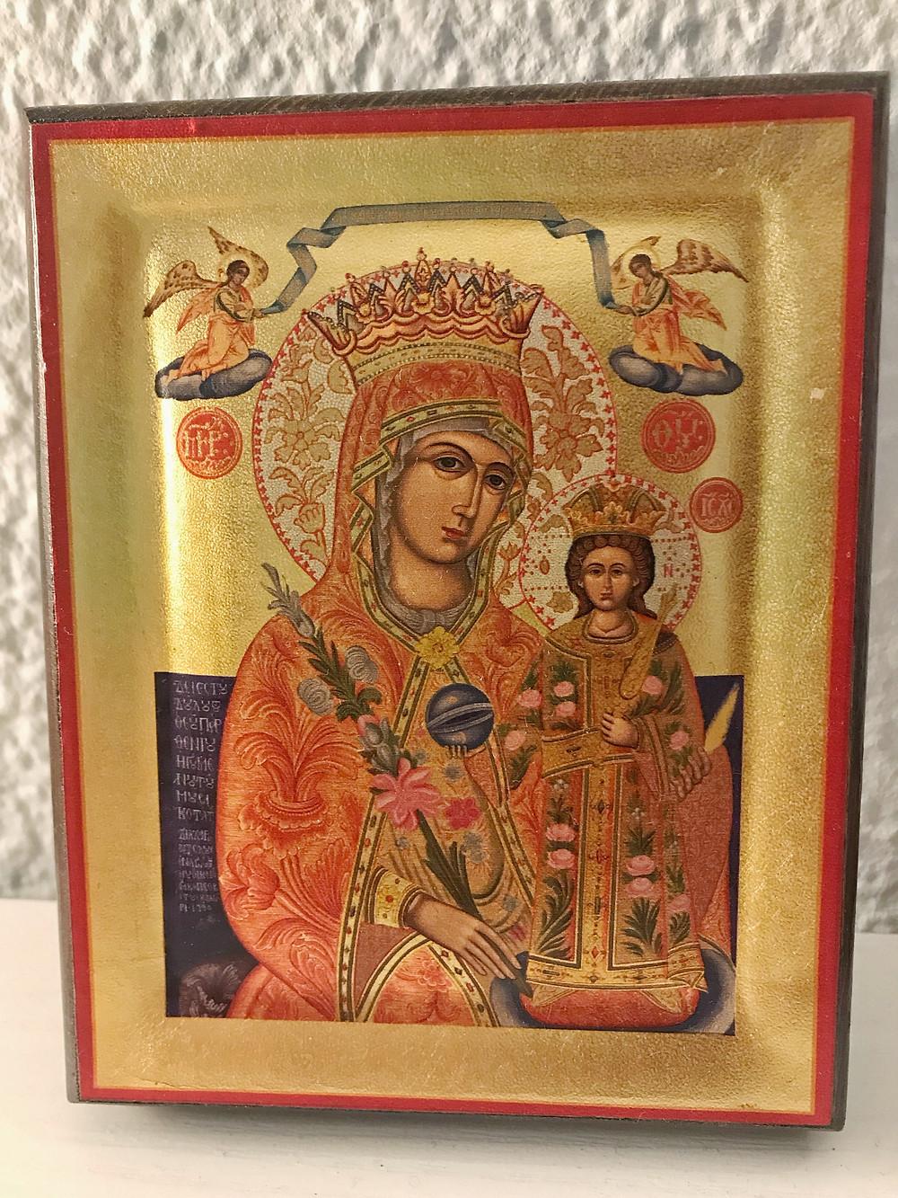 Meteora, icon, Mary, Jesus