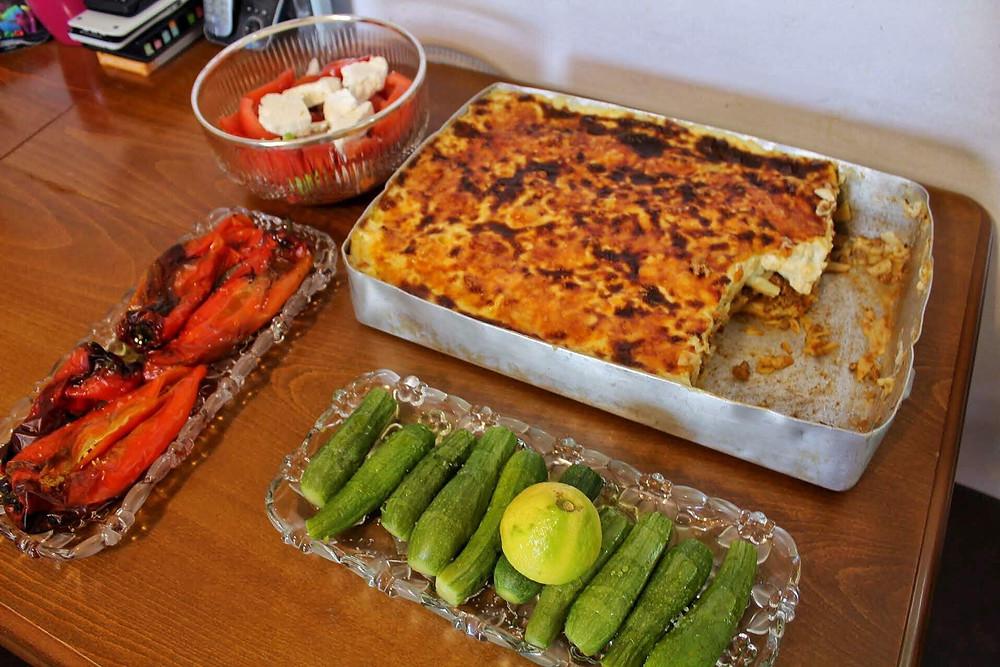 typical Greek food, Mediterranean diet
