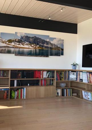 Bibliothèque d'angle chêne massif - Grand format