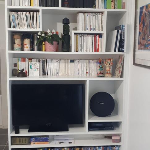 Bibliothèque meuble TV multimédia