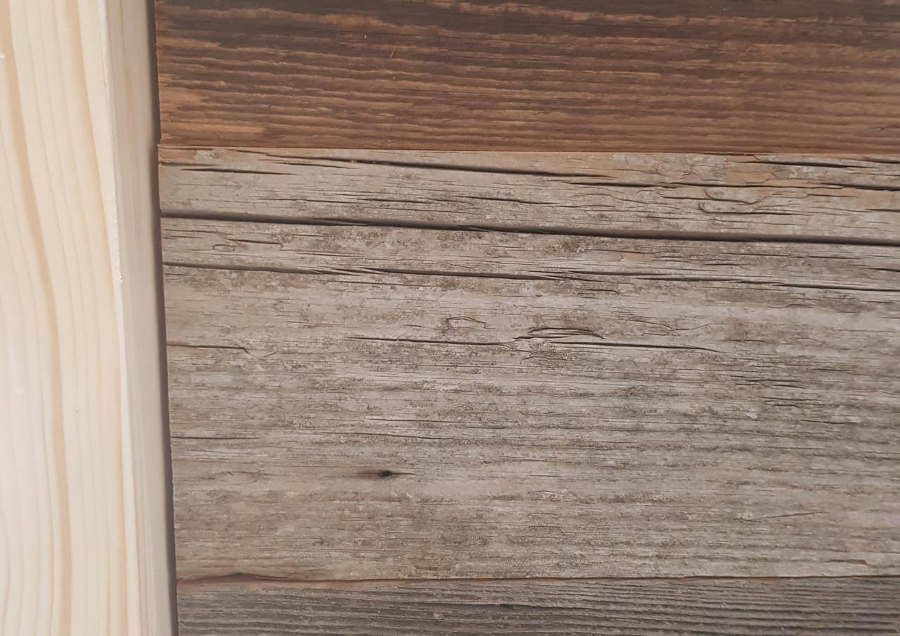 Banque d'accueil vieux bois