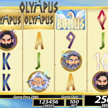 Greek Slot Game Interface Screen