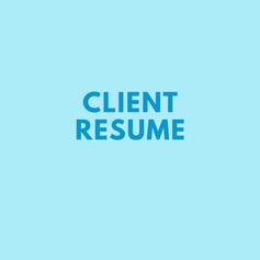 Client Resume