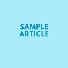 Sample Article