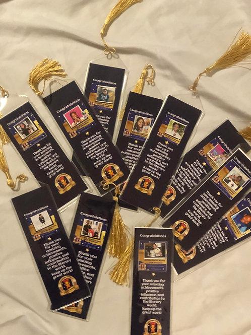 (10 pack) Custom Bookmarks with Tassel