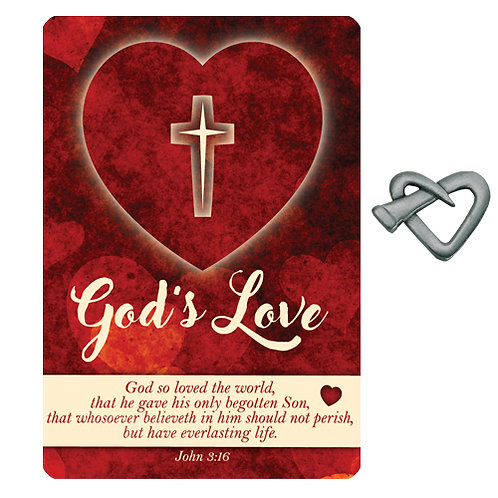 God's Love prayer card gift set