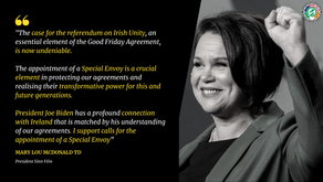 Sinn Féin President Calls for Appointment of US Special Envoy