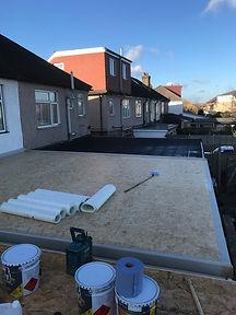 GRP flat roof