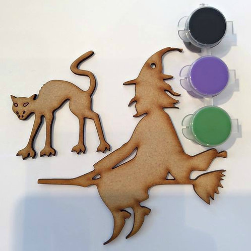 Witch & Cat MDF Paint Pack