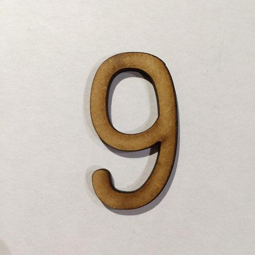 Thin Alphabet-5cm 9