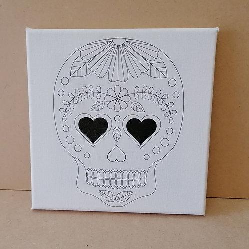 Skull canvas 3