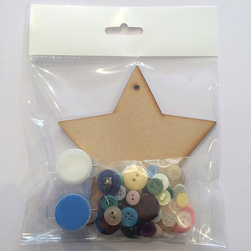 Star MDF Button Pack