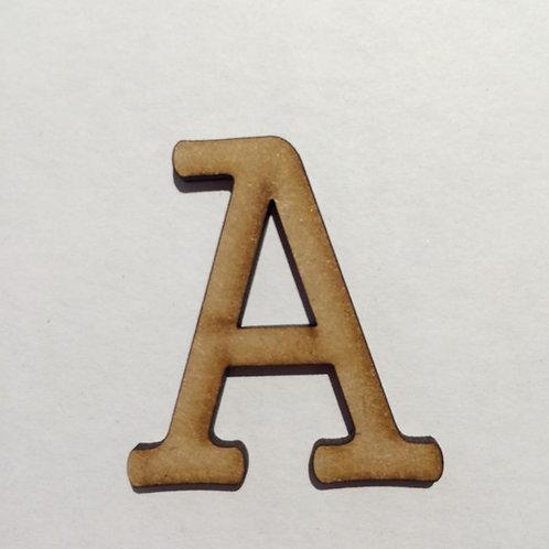 Thin Alphabet - 5cm A