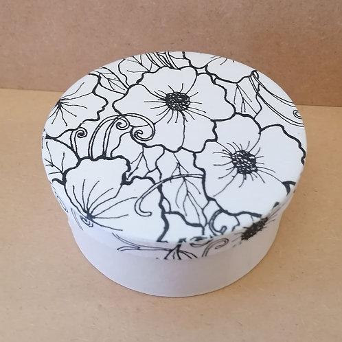 Round Hibiscous doodle box