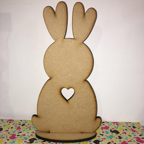 Bunny 2 with heart cut out