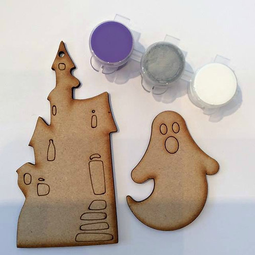Haunted House & Ghost MDF Paint Pack