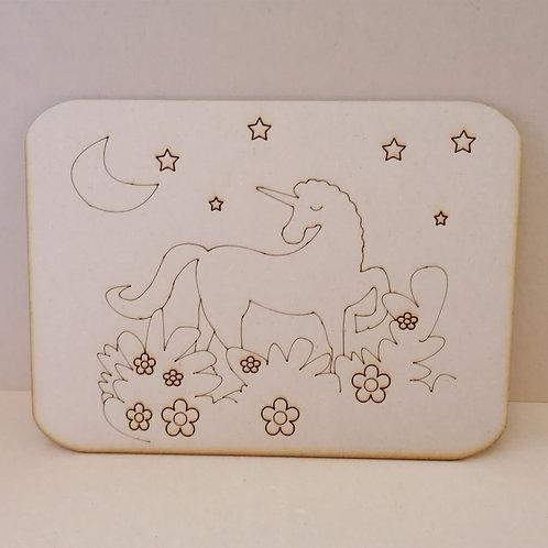 Unicorn placematt/picture