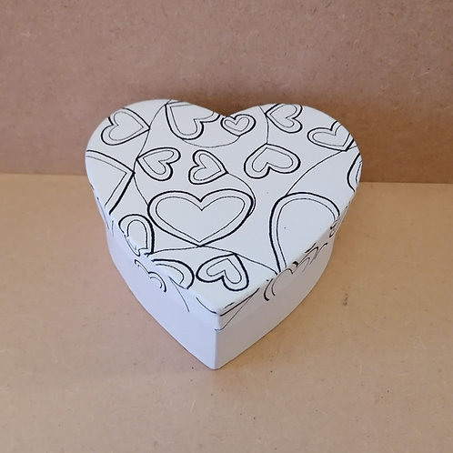 Heart with Hearts doodle box