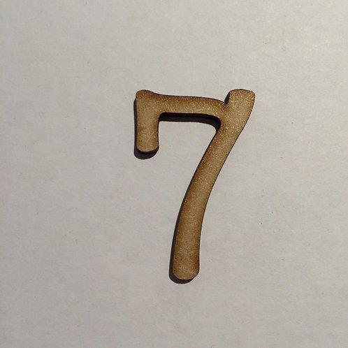 THIN FONT: 7