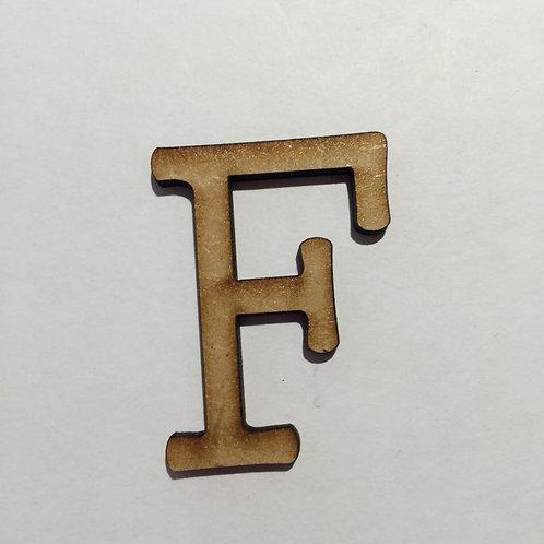 Thin Alphabet - 5cm F