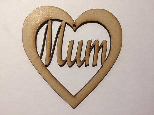 Mum (Hanging Heart)
