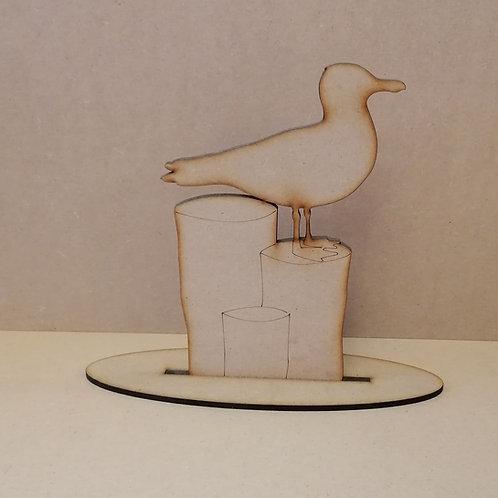 Seagull on a plinth