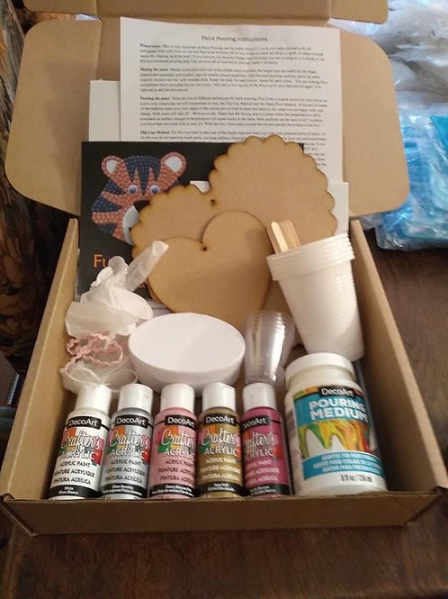 Pink - Paint Pouring Kit