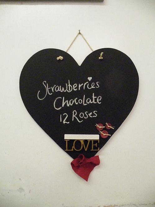 Heart ; Chalkboard Kit