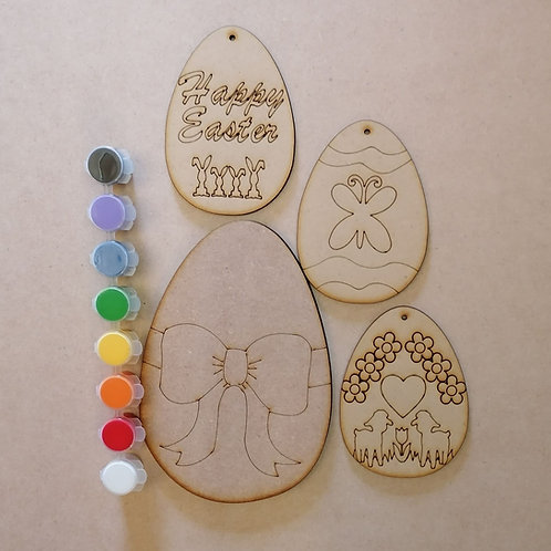 Egg and paint set