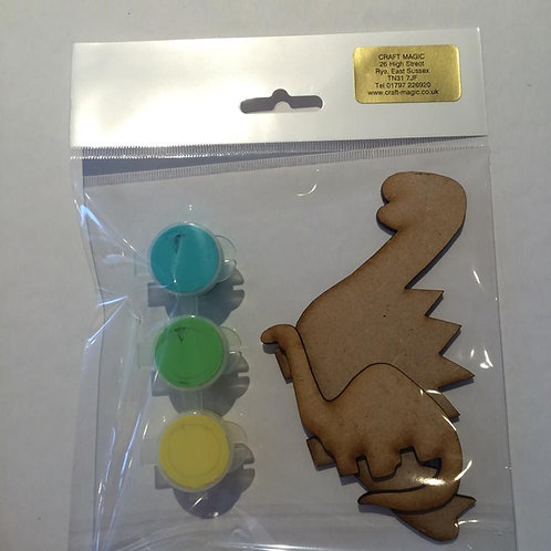 Dinosaur MDF Paint Pack
