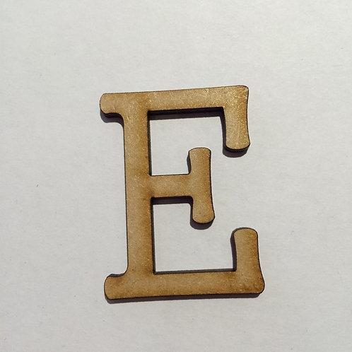 Thin Alphabet - 5cm E