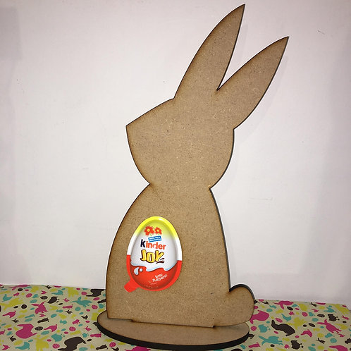 Bunny with Kinder Egg cut out
