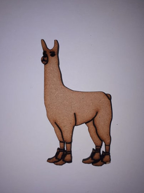 Llama with boots
